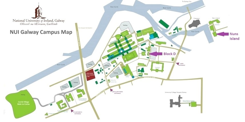 NUI Galway Map with buildings