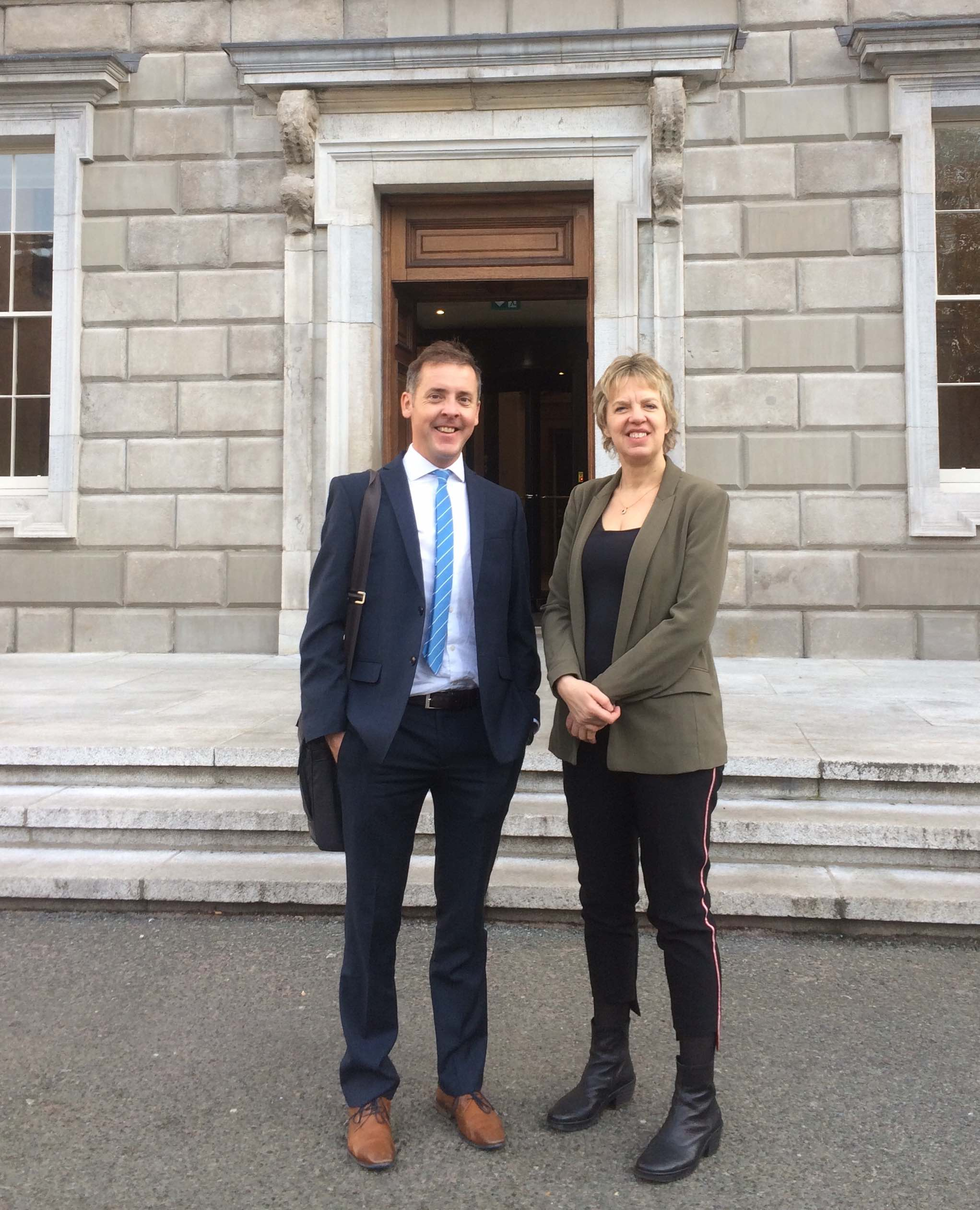 Geography colleagues chosen on the Oireachtas Science Pairing Scheme-image