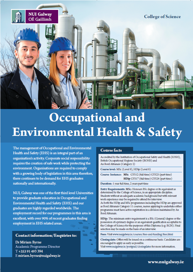 MSc (Occupational Health & Safety) brochure