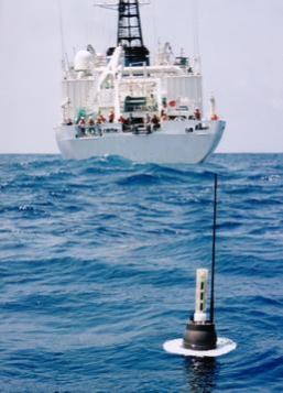 An example of an Argo float in the ocean