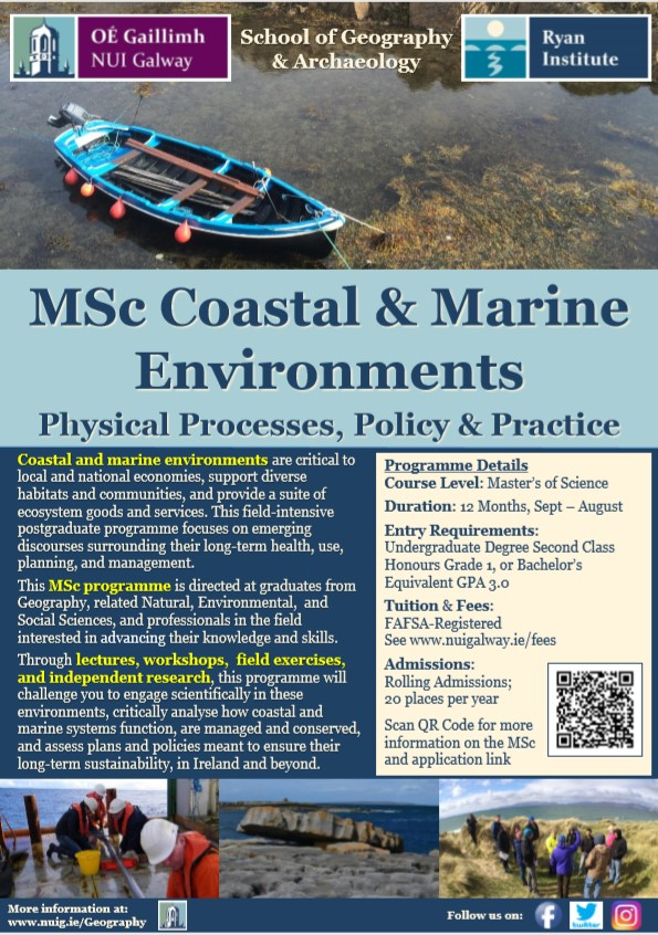 Coastal & Marine Environments Flyer
