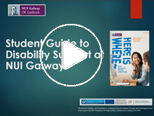 Student Guide to Disability Support at NUI Galway