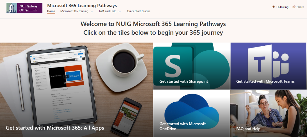 Microsoft 365 Learning Pathways Banner
