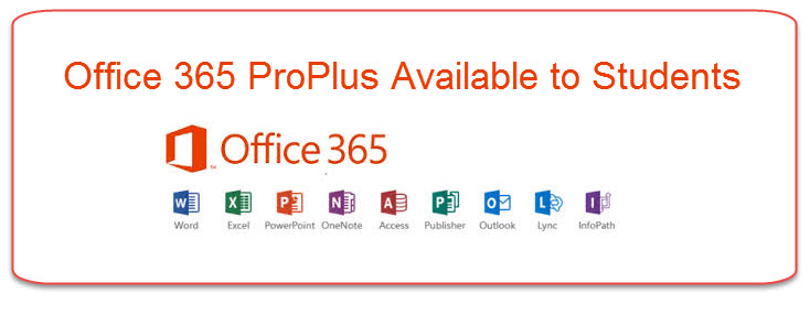 Office 365 ProPlus Available for Students