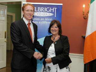 Dr Stephen Hynes and Ms. Una Halligan, chair of the Fulbright Commission in Ireland.