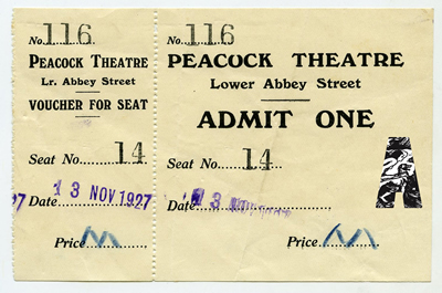 1927 Peacock Opening Ticket