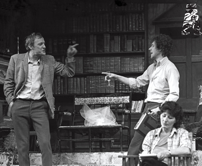 1979 Niall O'Brien, Stephen Rea & Kate Flynn in Aristocrats, Brian Friel