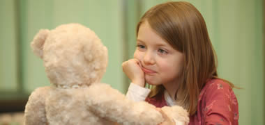 Emma Richardson (6) from Galway Educate Together School at the launch of NUI Galway's 8th Annual Teddy Bear Hospital which will take place on campus from 24-25 January.