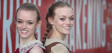 Twins Megan and Katie Connolly from Ballinsloe both study arts at NUI Galway and are part of the cast of the musical Spring Awakening, one of the many highlights of NUI Galway's Arts Festival, Múscailt.  Photo by Aengus McMahon.