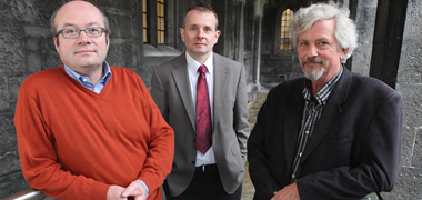 Research by (l-r) Dr Thomas Ritter, Professor Paul Murphy and Professor Kevin Sullivan are among 11 projects funded at NUI Galway.