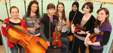 PICTURED ARE MEMBERS OF THE NUI GALWAY MEDICAL ORCHESTRA