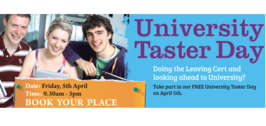 Get your revision on track at NUI Galway's Taster Day -image