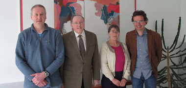 "Pictured last Friday March 28th at the talk entitled ""Ireland and Climate Change: Adapting in an Environment of Uncertainty"" delivered by Professor John Sweeney, hosted by the School of Natural Sciences at NUI Galway are from (L-R): Dr Mike Gormally, AEU, Centre for Environmental Science, Professor John Sweeney, ICARUS, NUI Maynooth, Dr Micheline Sheehy Skeffington, Plant Ecology Research Unit and Professor Vincent O'Flaherty, Head of the School of Natural Sciences, NUI Galway."