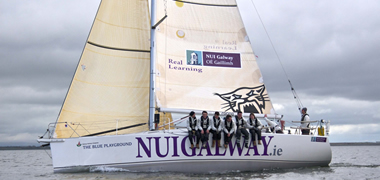 Pictured training in Galway Bay is the NUI Galway Round Ireland Yacht Race entry