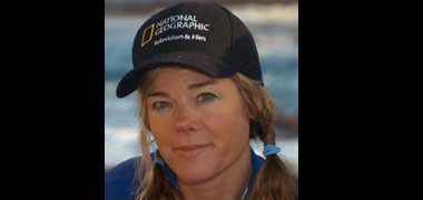 Pictured is Marine Biologist conservationist, media producer and National Geographic Emerging Explorer, Dr Tierney Thys.