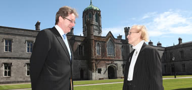 Pictured at NUI Galway is Judge Catherine McGuinness with President of NUI Galway, Dr Jim Browne, following her appointment as Chair of the Univeristy's Governing Authority.