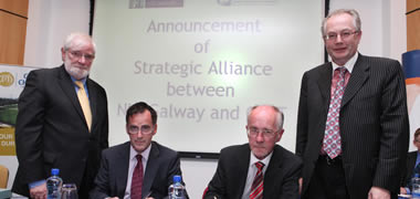 NUI Galway and GMIT sign Strategic Partnership -image