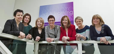 Pictured at the launch of the NUI Galway Adult Learners Information evening were members of the NUI Galway Centre for Adult Learning and Professional Development (l-r): Dr Sheila Garrity, Dr Niamh Nolan, Dr Anne Walsh, Nuala McGuinn (Director), Suzanne Golden, Deirdre Hardiman and Helen Casey.