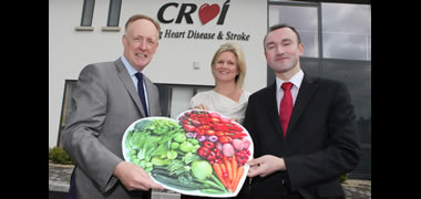 Left to right: Neil Johnson, CEO, Croí; Jenni Jones, Assistant Programme Director; Dr Ger Flaherty Programme Director, School of Medicine, NUI Galway.
