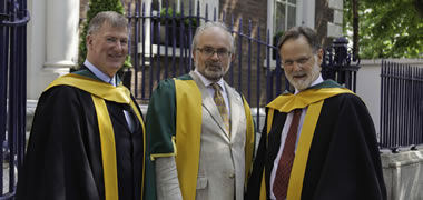 Pictured (l-r): Professor Steven Ellis, Professor of History at NUI Galway; Royal Irish Academy President, Professor Luke Drury; and Professor Adrian Frazier, Professor of English at NUI Galway.