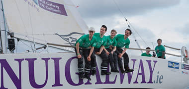Pictured is the NUI Galway crew during final preparations for the Round Ireland Yacht Race which starts on Sunday, 24 June, 2012