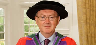 NUI Galway President Dr Jim Browne congratulates Seán O'Rourke on new RTÉ Radio 1 programme-image