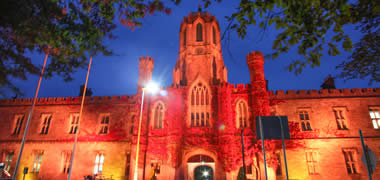 NUI Galway Galway Lights up in Orange on World Suicide Prevention Day-image