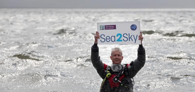 Paul Holland of Galway Dive Club makes a splash for Sea2Sky.