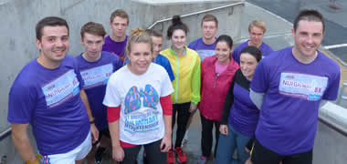 Pictured; Pierce Hickey from Kingfisher (third from left) pictured with NUI Galway staff and students who have been preparing over recent weeks for the 8k.