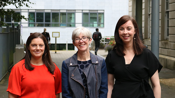 From left, Emma Corcoran, Creganna Medical, Galway City; Professor Breda Sweeney, J.E. Cairnes School of Business and Economics, NUI Galway; and Siobhain Quaid, Mylan Pharmaceuticals Teo, Inverin, Co. Galway.