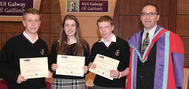 NUI Galway Awards Business Certificate to 300 Junior Certificate Students -image