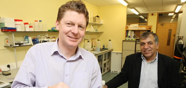 Vornia's Managing Director, Dr Colm O'Dowd and Professor Abhay Pandit of the NFB at NUI Galway