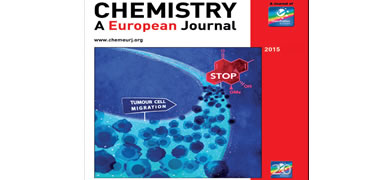 The front cover image of Chemistry A European Journal depicts NUI Galway compound MGSTA-6 giving a stop signal to tumour cells on the move.
