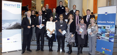Pictured are MARNET project partners at its launch at the EU Atlantic Forum Conference in Bilbao.