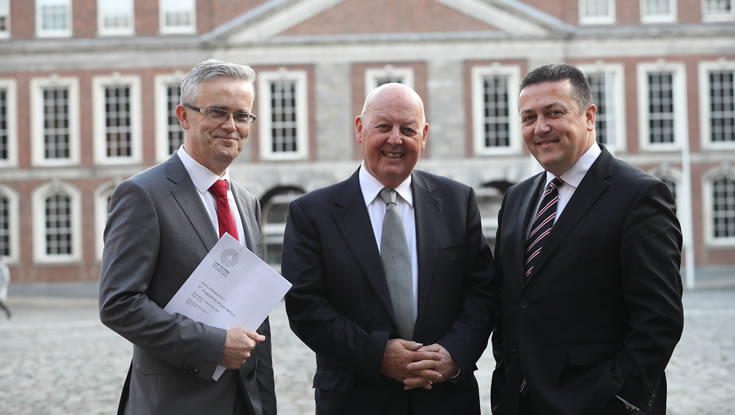 Members of the Law Reform Commission (l-r) Mr Raymond Byrne, Full-time Commissioner; Mr Justice John Quirke, President of the Commission and Professor Donncha O'Connell, Part-time Commissioner.