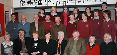 Pictured are Millstreet Community School Living Scenes group with (middle row, l-r): teachers Brian Kelleher and Barry Fraser, with adult participants Tommy Tucker and Michael Neville. Front row, l-r: Eansie Twomey, adult participant; John Magee, Living Scenes co-ordinator, Millstreet Community School; Mary Flaherty, adult participant; Dr Mary Surlis,Living Scenes Programme Director, NUI Galway; adult participants Eily Buckley, Joe O'Connell and Margaret Murphy; and Vincent McDonnell, Millstreet Community School teacher.