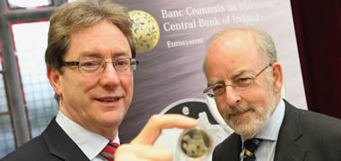 President of NUI Galway, Dr Jim Browne with Governor, Central Bank of Ireland, Patrick Honohan