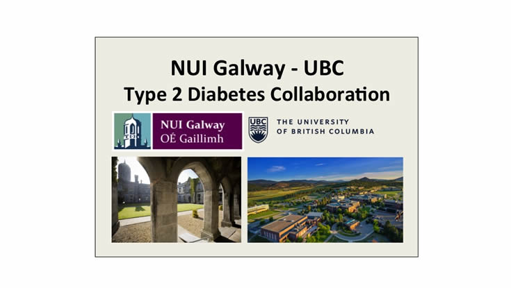 Type 2 diabetes collaboration between NUI Galway and the University of British Columbia. Photo: NUI Galway