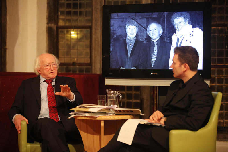 Michael D. with fellow graduate Harry McGee of The Irish Times in 2010