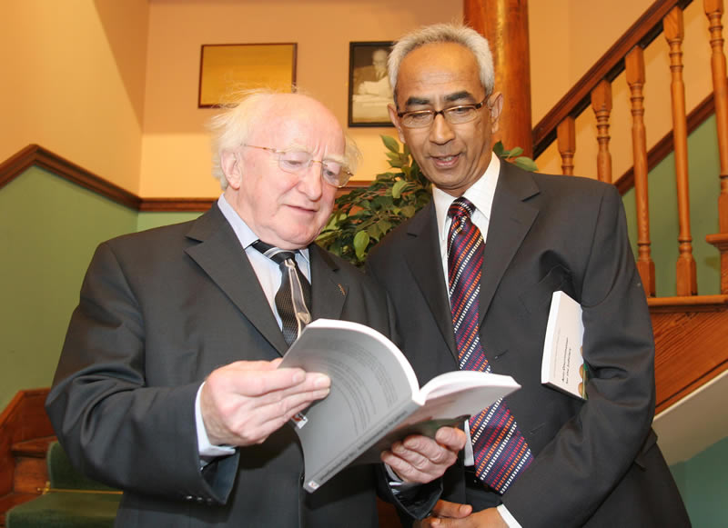 Michael D and Dr Vinodh Jaichand, the Irish Centre for Human Rights