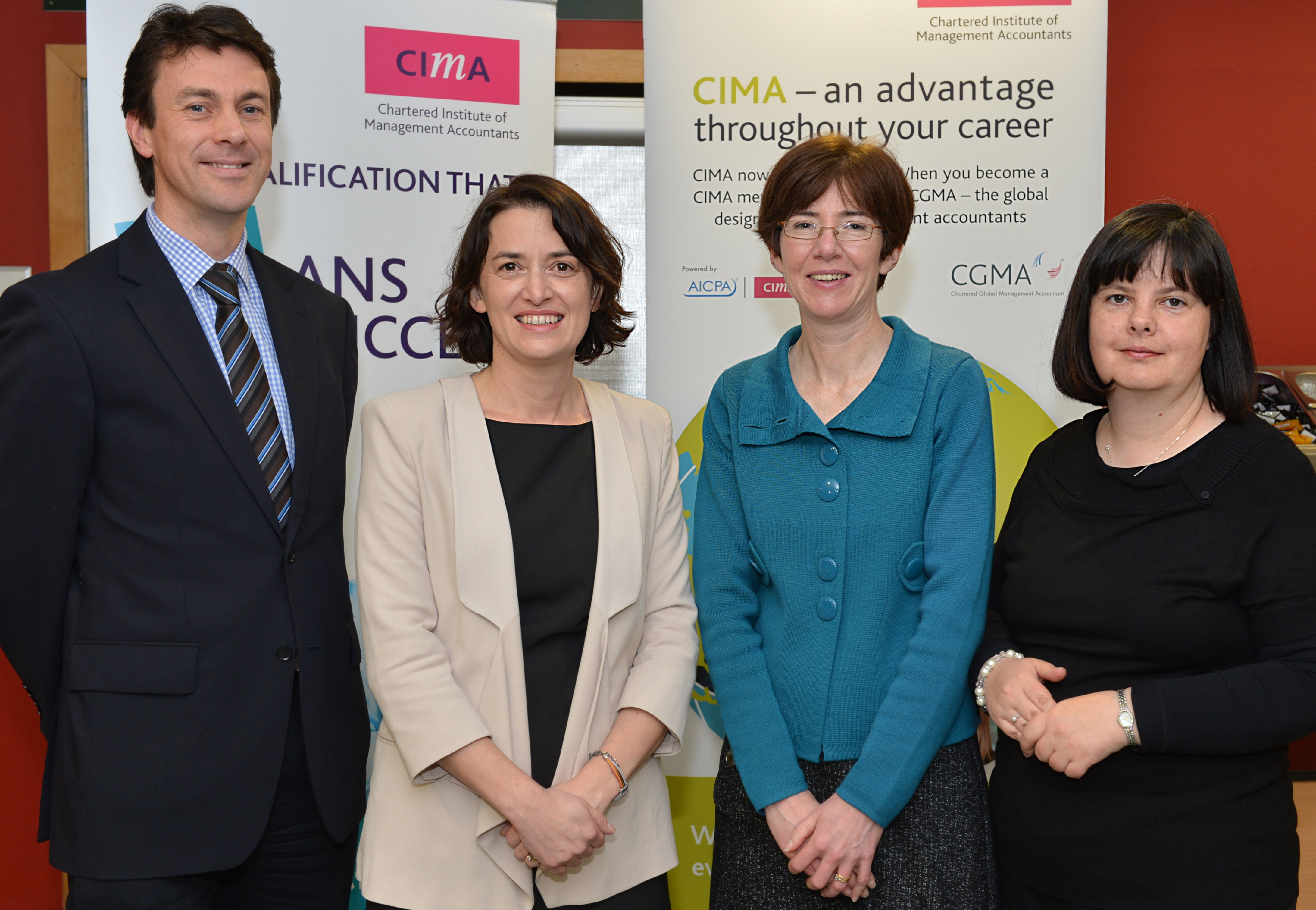 Brian Duffy(CIMA), Dr Emer Curtis (NUI Galway), Prof Breda Sweeney (NUI Galway) and Mary Clisham (CIMA) pictured at the CIMA Workshop 'Using Management controls to enable Innovation'