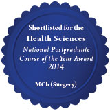 MCh (Surgery) shortlisted PG Awards