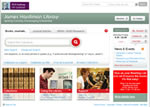 Image of the library Web site
