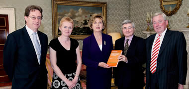 NUI Galway Professor Presents Copy of New Book to President McAleese-image