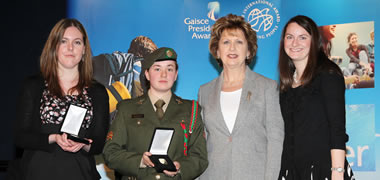 Four NUI Galway Students Receive National Presidential Award-image