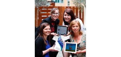 With the app are (clockwise from top left) Dr Aoife Callan, Dr Sandra Galvin, Dr Akke Vellinga and Dr Sinéad Duane.