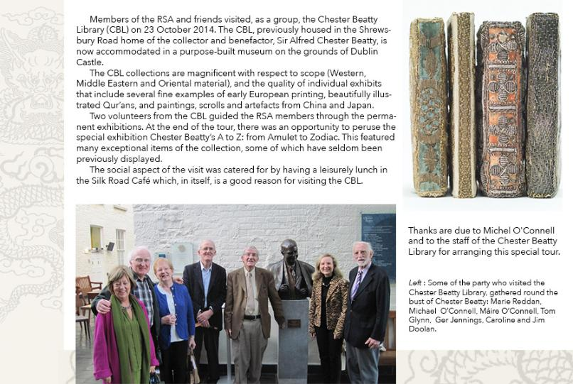 Composite image & text, RSA group in Chester Beatty Library