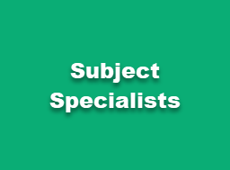 Subject Specialist