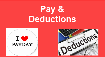 Pay & Deductions FAQ's