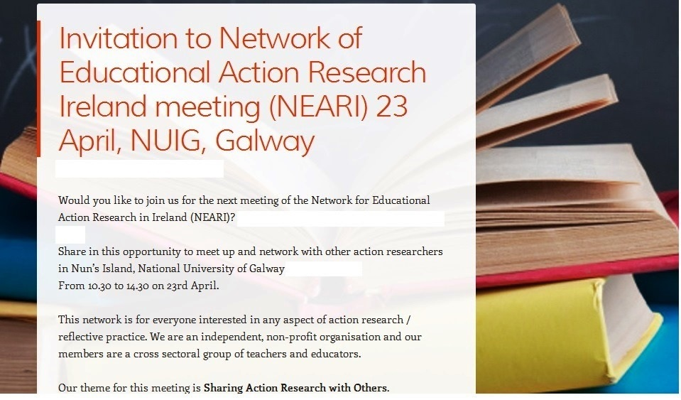 INVITATION: Network for Educational Action Research in Ireland (NEARI)-image